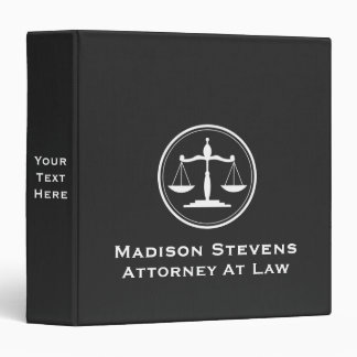 Attorney Lawyer Justice Scales Binder