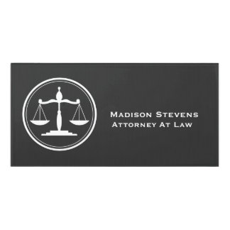 Attorney Lawyer Justice Scales Door Sign