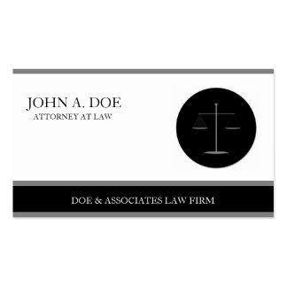 Attorney Lawyer Law Firm B/W Silver Stripes Business Card