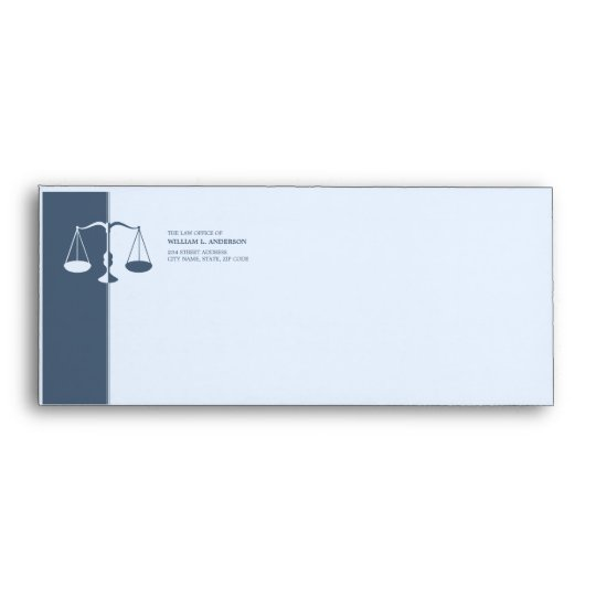 Attorney / Lawyer / Law Firm (Blue) envelope