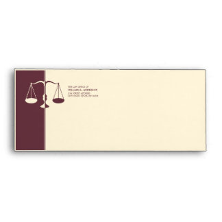 Attorney / Lawyer / Law Firm - Burgundy envelope
