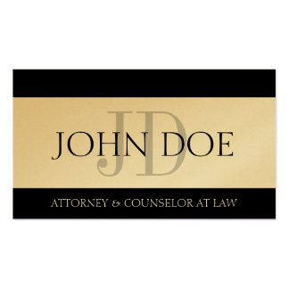 Attorney Lawyer Law Firm Monogram Gold Paper Double-Sided Standard Business Cards (Pack Of 100)