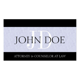 Attorney Lawyer Law Firm Monogram Light Blue Sky Business Cards