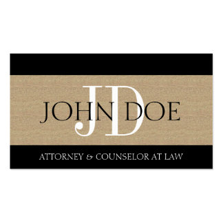 Attorney Lawyer Law Firm Monogram Textured Tan Double-Sided Standard Business Cards (Pack Of 100)