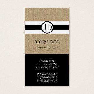 Attorney Lawyer Law Firm Pendant Tan Black Business Card