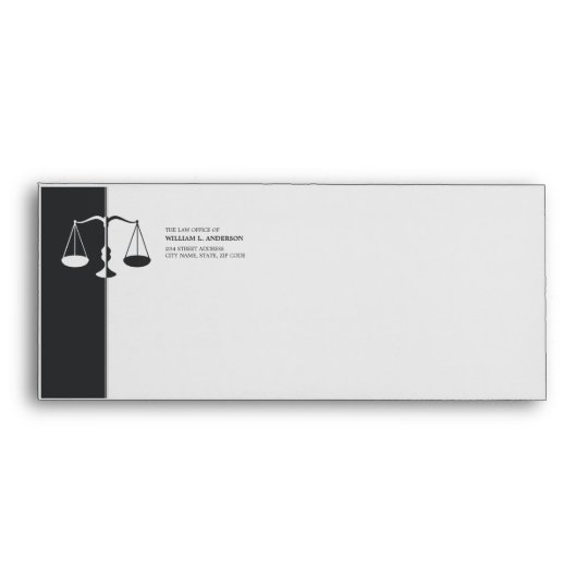 Attorney / Lawyer / Legal - Charcoal Grey envelope