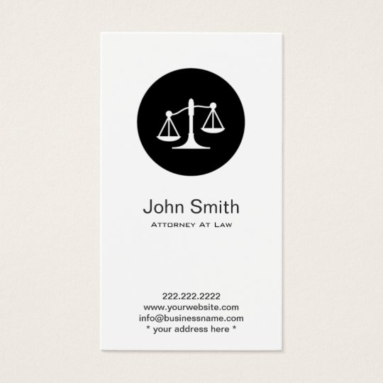 Attorney lawyer minimalist scales icon business card zazzle attorney lawyer minimalist scales icon business card colourmoves