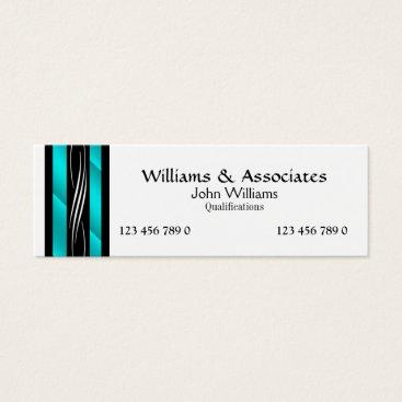 Lawyer Themed Attorney Lawyer monogram aqua turquoise Mini Business Card