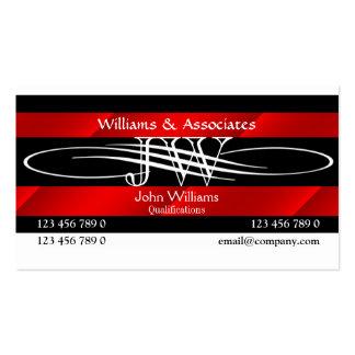 Attorney Lawyer monogram masculine Business Card