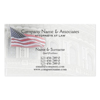 Attorney Lawyer Patriot patriotic American Business Card Template