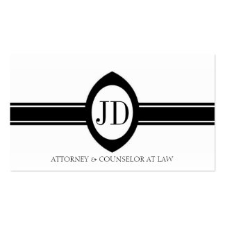 Attorney Lawyer Pendant Fancy Ribbon Double-Sided Standard Business Cards (Pack Of 100)