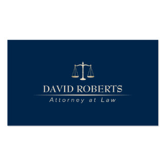 Attorney Lawyer Professional Blue & Gold Business Card