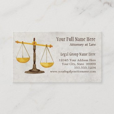 Attorney Legal Practice Judge Symbol Business Card