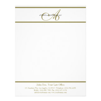 Attorney Letterhead Gold Script -MatchBusinessCard