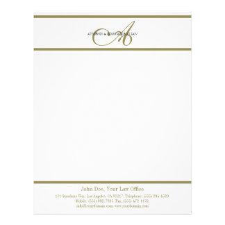 Attorney Letterhead Gold Script -MatchBusinessCard