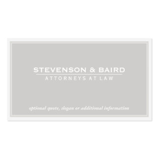 Attorney Light Gray Groupon Double-Sided Standard Business Cards (Pack Of 100)