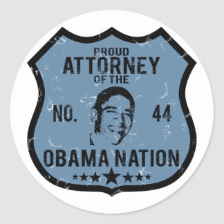 Attorney Obama Nation Classic Round Sticker