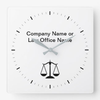 Attorney Office Company Logo Clocks