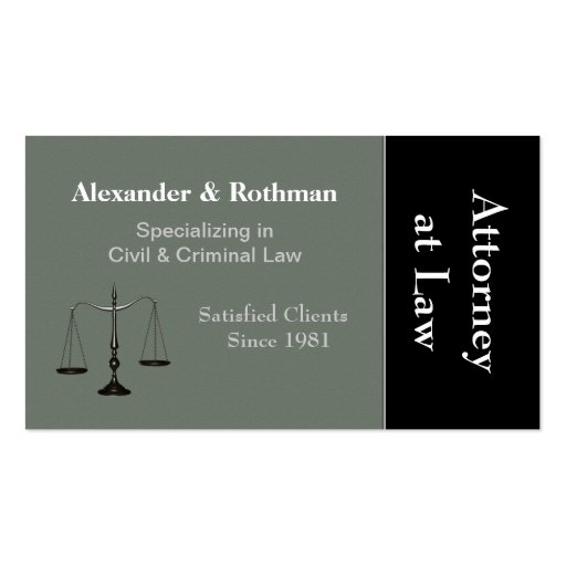 Attorney or Lawyer Business Card