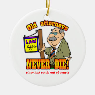 Attorney Double-Sided Ceramic Round Christmas Ornament