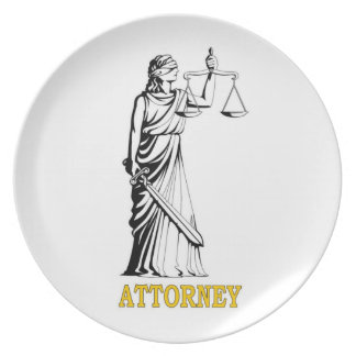ATTORNEY PARTY PLATES