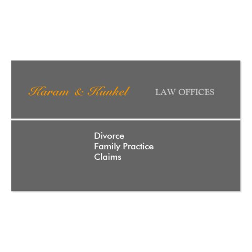 Attorney - Plain Justice Scales Business Card