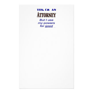 Attorney Powers Funny Stationery