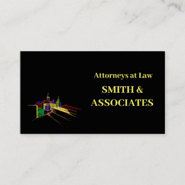Attorney Professional Business Cards Black