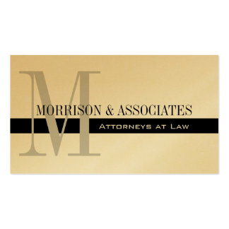 Attorney Professional Business Cards Gold