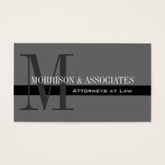 Attorney Professional Business Cards Grey at Zazzle