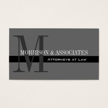 Professional Business Attorney Professional Business Cards Grey