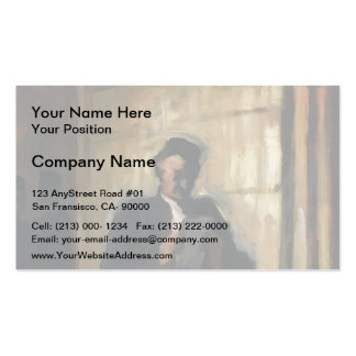 Attorney Reading by Honore Daumier Business Cards