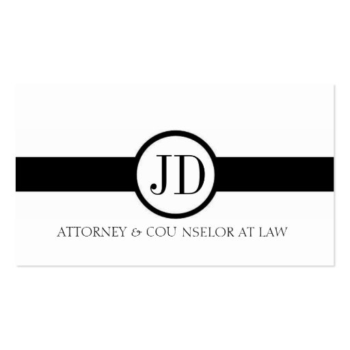 Attorney Ribbon Round Business Card