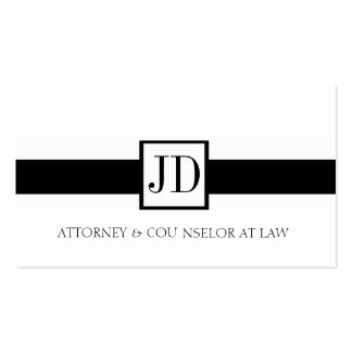 Attorney Ribbon Square - Available Letterhead - Double-Sided Standard Business Cards (Pack Of 100)