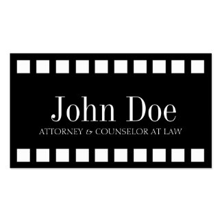Attorney Ribbons Square Black Double-Sided Standard Business Cards (Pack Of 100)