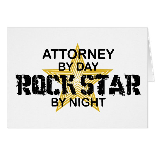 Attorney Rock Star by Night Card