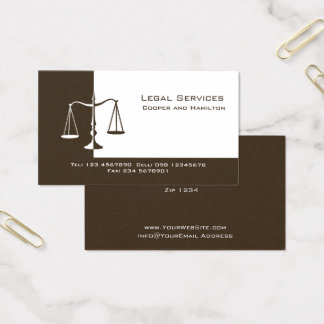 Attorney Scales of Justice Business Card
