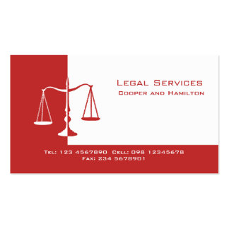 Attorney Scales of Justice Business Card Template