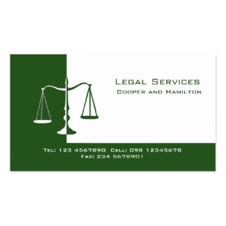 Attorney Scales of Justice Double-Sided Standard Business Cards (Pack Of 100)