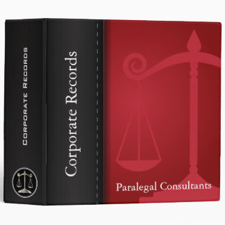 Attorney | Scales of Justice | Red | Lawyer Binder