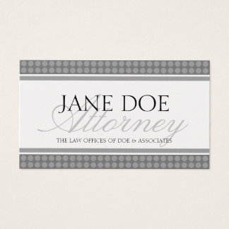 Attorney Script Platinum Dot Sensation Business Card