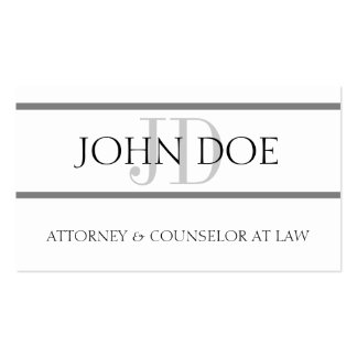Attorney Silver Stripes - Available Letterhead - Business Card