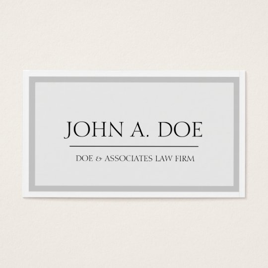 Attorney Silver/White - Available Letterhead - Business Card