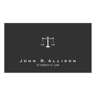 Attorney Simple Justice Scales Black and White Double-Sided Standard Business Cards (Pack Of 100)