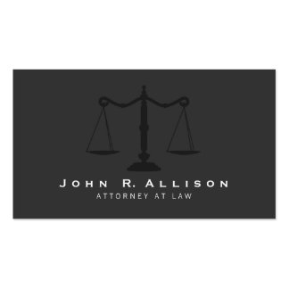 Attorney Simple Justice Scales Black Double-Sided Standard Business Cards (Pack Of 100)