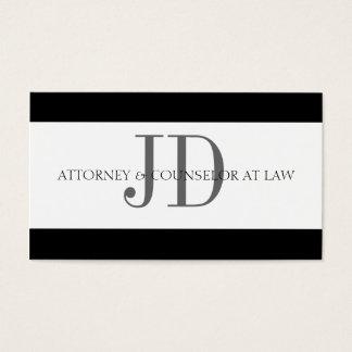 Attorney Stripe White/White Business Card