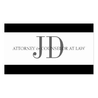 Attorney Stripe White/White Business Cards