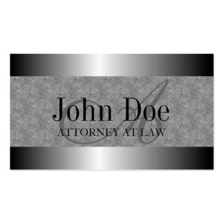 Attorney Texture Marble Silver Metal Metallic Double-Sided Standard Business Cards (Pack Of 100)