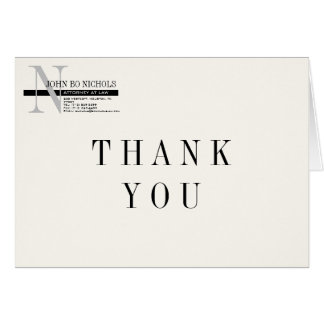 Attorney Thank You Card Note Card