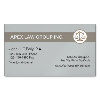 Attorney Theme Business Card Magnet